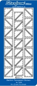 Borduursticker Starform 3200 Drie hoekjes