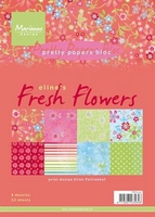 MD Pretty Paper Bloc PB7045 Eline's Fresh Flowers
