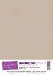 Crafters Companion Neenah Desert Storm Kraft Colouring Card