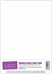 Crafters Companion Neenah Classic Crest Card Pack Solar Whit