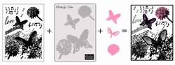 Couture Creations 3 in 1 set 723400 Butterfly Notes
