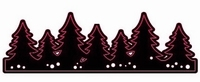 Couture Creations Magical Christmas 723566 Forest/bomen rand