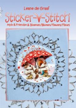Leane Creatief Mylo&Friends Sticker-V-stitch bloemen 4talig