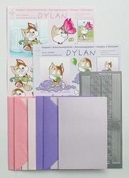 LeCreaDesign Dylan 3D kaartpakket 51.3621 lila/roze