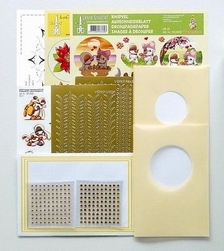 LeCrea Mylo & Friends Sticker-V-Stitch 61.3331 pakket geel