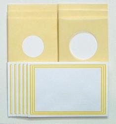 LeCreaDesign Sticker-V-Stitch Passepartout kaartenset geel