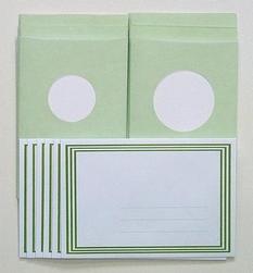 LeCreaDesign Sticker-V-Stitch Passepartout kaartenset groen