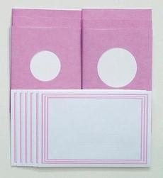 LeCreaDesign Sticker-V-Stitch Passepartout kaartenset roze