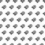 Nellie's Background Embossing folder EEB008 Flowers-2
