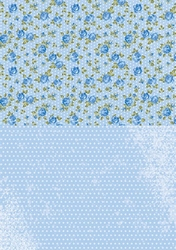 A4 Vel Nellie's Background Neva013 Blue roses