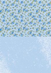 A4 Vel Nellie's Background Neva013 Blue roses