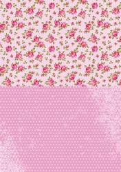 A4 Vel Nellie's Background Neva008 Pink roses