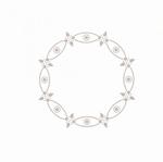 Linnen oplegvel dotskaart 4-kant champagne 10 cirkel