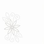 Linnen oplegvel dotskaart 4-kant champagne 09 bloem