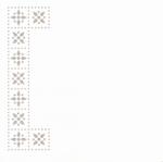 Linnen oplegvel dotskaart 4-kant champagne 04 hoek/rand