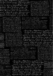 cArt-Us Zijde karton folie Tekst zwart/zilver