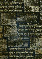 cArt-Us Zijde karton folie Tekst zwart/goud
