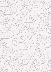 cArt-UsKarton embossed CC Swirls heel licht lila