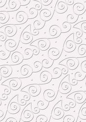 cArt-UsKarton embossed CC Swirls zacht roze