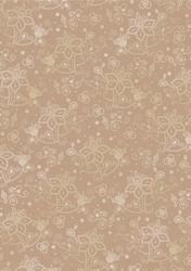 cArt-Us Satin karton folie beige/goud fantasie bloemen
