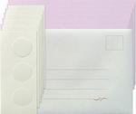 Leane Creatief Kaarten set Tri-O kaarten 306554 roze/magnoli