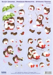 Reddy 3D Stansvel 83579 Pinguïns in de sneeuw