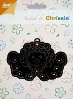 Chrissie Borduurstencil 6001-1039 Engel