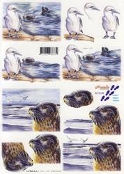 A4 Knipvel Le Suh 8215108 Zeemeeuw/zeehond