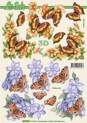 A4 Knipvel Le Suh 8215204 Bloem met vlinder