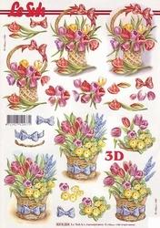 A4 Knipvel Le Suh 8215224 Mand met tulpen