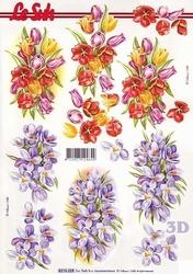 A4 Knipvel Le Suh 8215228 Voorjaarsbloemen tulp & krokus