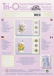Leane Creatief Tri-O kaarten borduurkit 516516 roze/magnolia