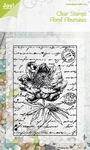 Joy Clear stamps 6410-0043 Floral Flourishes Old letter Rose