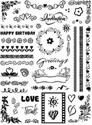 Clear Stempel Pooh 02 Happy birthday