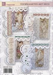 Creatief art A4 pakket RE2530-0056 Vouwkaarten Art Deco