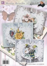 Creatief art A4 Staf Wesenbeek SWK85-102 Butterflies 01