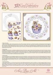 Ann's Paper Art 3D Borduurknipvel 3DCE2016 Cupcakes