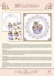 3D Borduur/knipvel Ann Paper Art 3016 Cupcakes