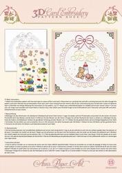 Ann's Paper Art 3D Borduurknipvel 3DCE2015 Baby Frame