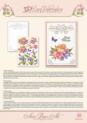 Ann's Paper Art 3D Borduurknipvel 3DCE2014 Blue Lily