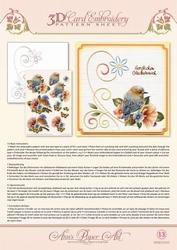 Ann's Paper Art 3D Borduurknipvel 3DCE2013 Bluebirds