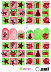A5 Knipvellen Quadrant IT 420 kerst rood-groen