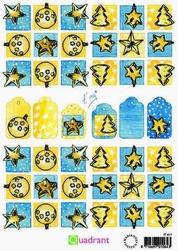 A5 Knipvellen Quadrant IT 417 geel-blauw