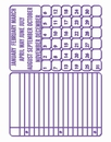 Couture Creations Embossing folder 723635 Journal cards