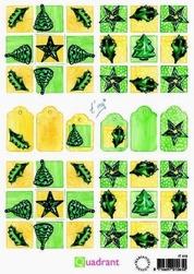 A5 Knipvellen Quadrant IT 418 kerst groen-geel