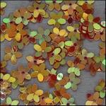 Ilse's Bloemetjes  pailletten oranje