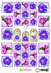 A5 Knipvellen Quadrant IT 404 bloem roze