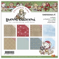 Paperpack Yvonne Creations CDPP10002 Christmas time 4