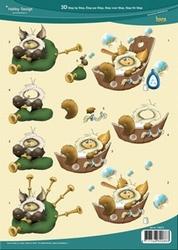 3D Knipvel Hobby Design 73073 Eskimo in tobbe/doedelzak