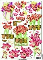 A4 Knipvel MD Diny 3D526 Tulpen